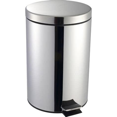poubelle cuisine pedale poubelle de cuisine à pédale selekta métal inox 20 l leroy merlin