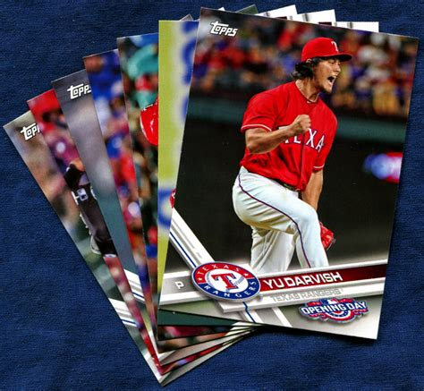 2017 Topps Opening Day Texas Rangers Baseball Cards Team Set