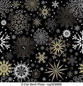 Papier Peint Noir Et Doré : papier peint noir seamless no l dor flocons neige vector papier peint seamless noir ~ Melissatoandfro.com Idées de Décoration