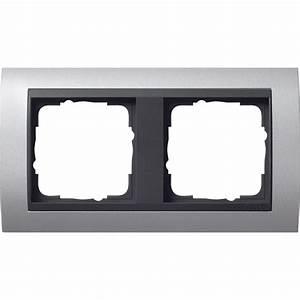 Farbe Für Aluminium : gira 021206 2 fach abdeckrahmen f r anthrazit event ~ Watch28wear.com Haus und Dekorationen