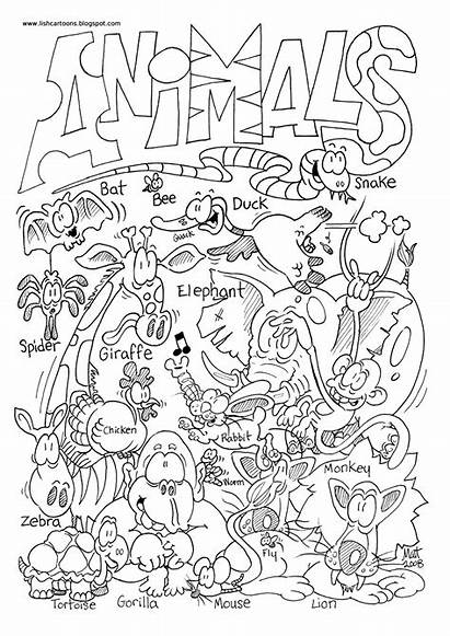 Zoo Coloring Preschool Animal Pages Animals Printable