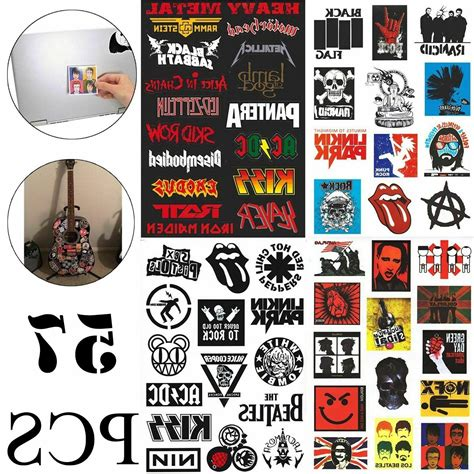 57 stickers lot rock band heavy
