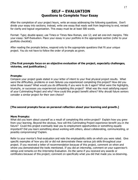 evaluation essay examples   examples