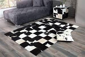 Teppich Schwarz Weiß : kuhfell teppich schwarz weiss kaufen auf ricardo ~ A.2002-acura-tl-radio.info Haus und Dekorationen