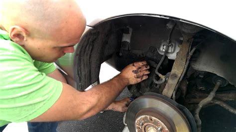 change brake pads  rotors  honda civic youtube