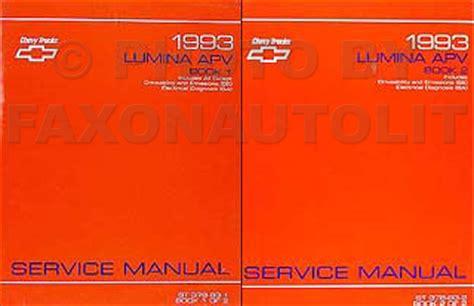 service manuals schematics 1993 chevrolet lumina apv regenerative braking 1993 chevy lumina apv minivan repair shop manual original 2 vol set