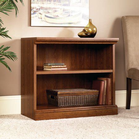 Sauder Bookcase Cherry by Sauder Camden Country 2 Shelf Bookcase Planked Cherry