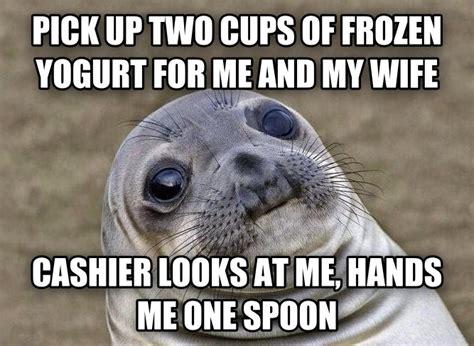 Frozen Yogurt Meme - livememe com uncomfortable situation seal