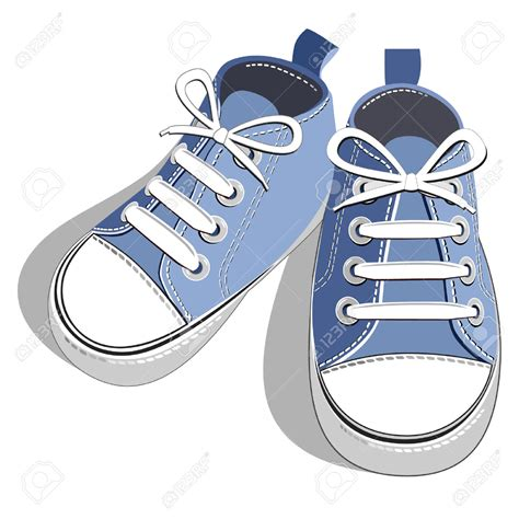 Clipart Shoes Sneakers Clipart Boy Shoe Pencil And In Color Sneakers