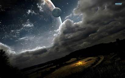 Sky Night Fantastic Fantasy Space Wallpapers Backgrounds