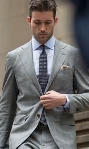 Men Fashion Grey Suit