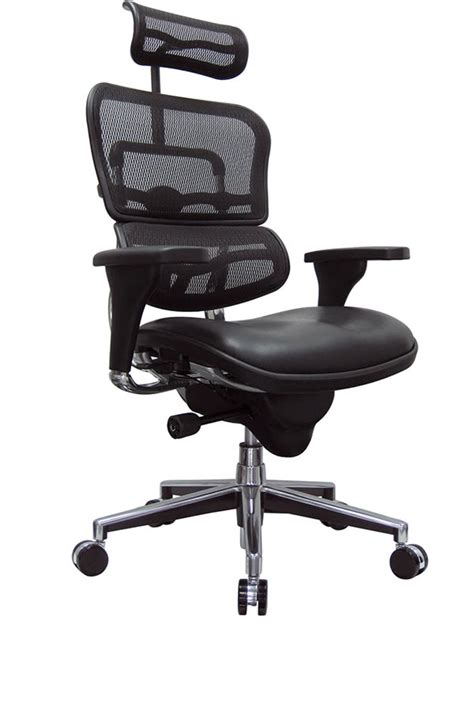eurotech lem4erg ergohuman mesh back chair with headrest