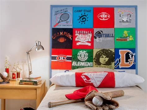 diy headboards for boys how to make a headboard out of old t shirts how tos diy