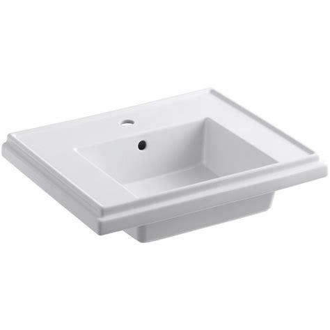 kohler tresham 24 in fireclay pedestal sink basin in