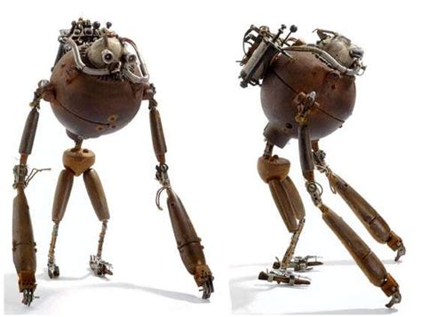 mechanical steampunked sculptures fantastic contraptions