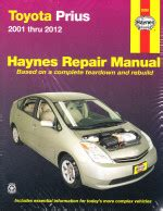 free car manuals to download 2011 toyota prius head up display 2001 2012 toyota prius hybrid haynes repair manual