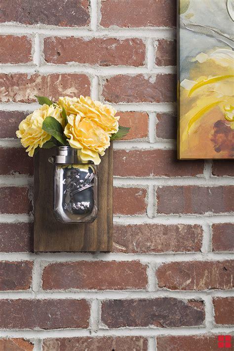diy mason jar wall sconce