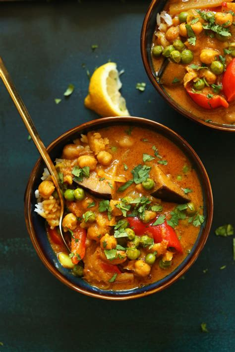 coconut red chickpea curry minimalist baker recipes