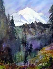 Mount Rainier Landscape Paintings
