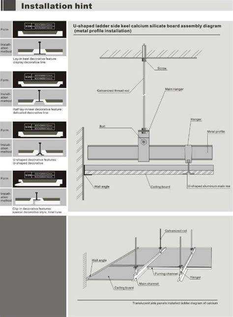 waterproof acoustic gypsum suspended false ceiling