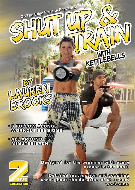 dvd brooks lauren kettlebell kettlebells workout workouts shut train training fitness