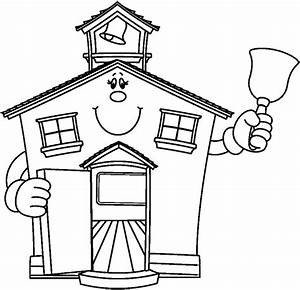 Schoolhouse Bw | Free Images at Clker.com - vector clip ...