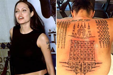 list   angelina jolie tattoos   meanings