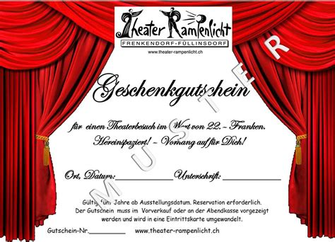 gutschein theater
