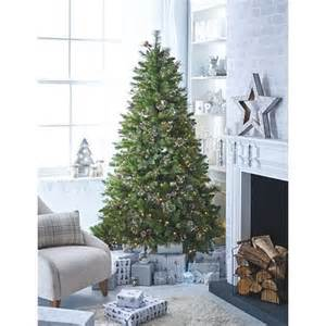 5ft Pre Lit Christmas Tree Asda by 7 Ft Snowy Spruce Pre Lit Tree With Tree Bag