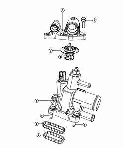 2010 Dodge Avenger Thermostat Package  Engine Coolant