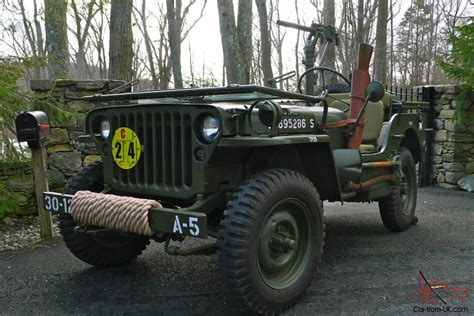 willys mb wwii military jeep fully restored  reserve