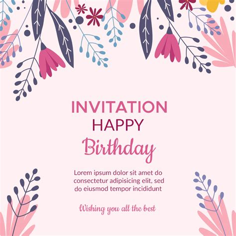 10+ Birthday Invitation Free Template in PSD Template
