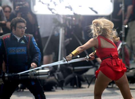 Ashley Benson On The Pixel Movie Set In Toronto