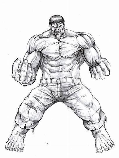 Hulk Sketch Deviantart Drawing Pencil Draw Marvel