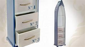 Decoration Chambre Style Marin : biblioth que tag re d co marine en forme de bateau ~ Zukunftsfamilie.com Idées de Décoration