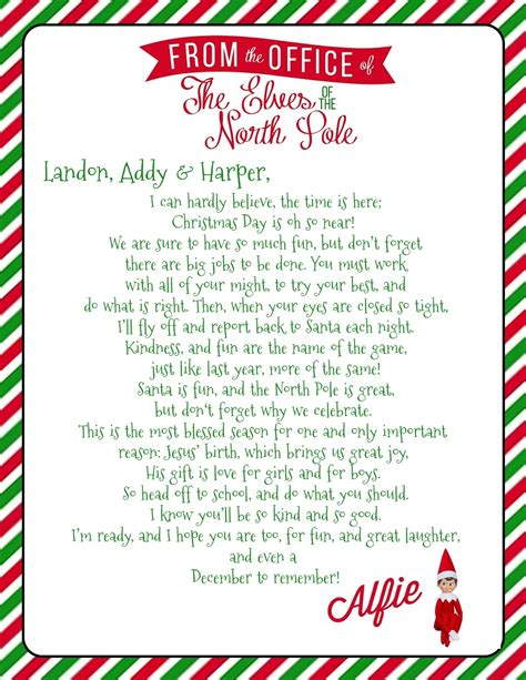 letter from elf on the shelf on the shelf letter letters free sample letters 22851 | growing up godbold elf on the shelf welcome letter with free pertaining to elf on the shelf letter