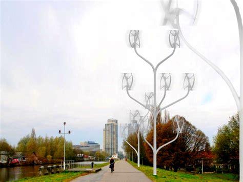 Ветряное дерево — миниэлектростанция на улицах города . техкульт