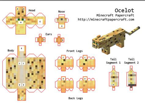 minecraft papercraft guide papercraft animals