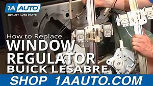 How To Install Repair Replace Broken Power Front Window Regulator Buick Lesabre 00