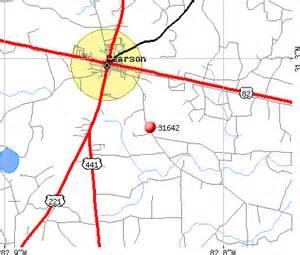 Pearson Georgia Map