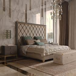 italian designer art deco inspired upholstered bed with