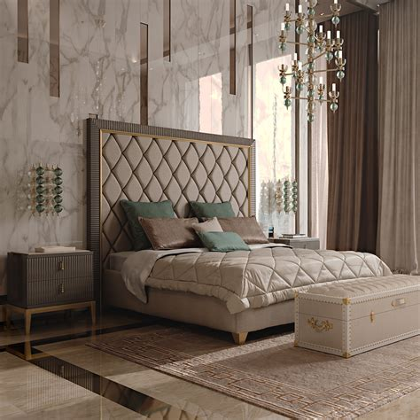 Headboard Designs For Bed by Italian Designer Deco Inspired Upholstered Bed With