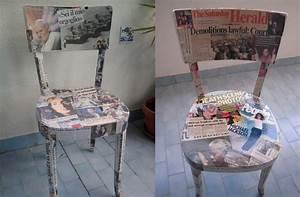 Come rivestire delle vecchie sedie con i giornali Tutto per Lei