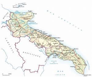 Cartina Muta Fisica E Politica Della Basilicata Da Stampare