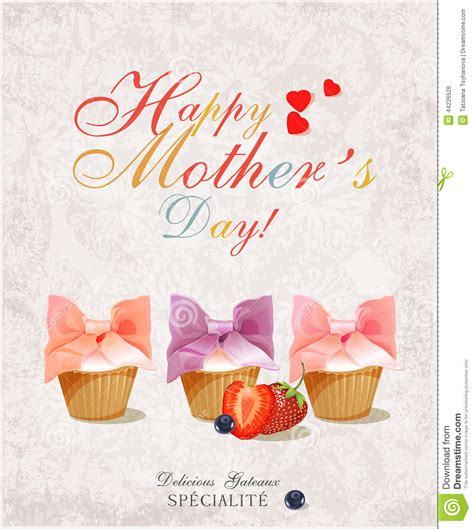 vintage happy motherss day typographical background