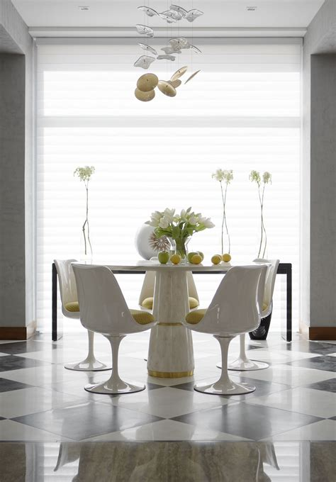 agra marble dining table contemporary design  brabbu