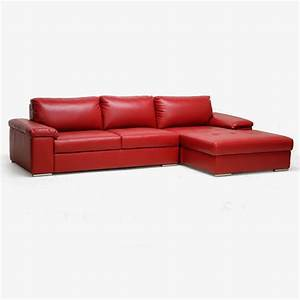 Red sectional sofa best of round sofa chair living room for Red leather modular sectional sofa