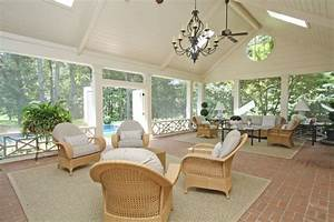 Screened porch and pool - Traditional - Porch - atlanta