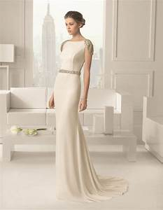 simple wedding gowns for the minimalist bride modern wedding With minimalist wedding dress