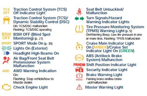 mazda warning lights type bo maple shade mazda